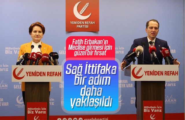 Meral Akşener Fatih Erbakan'ı ziyaret etti.