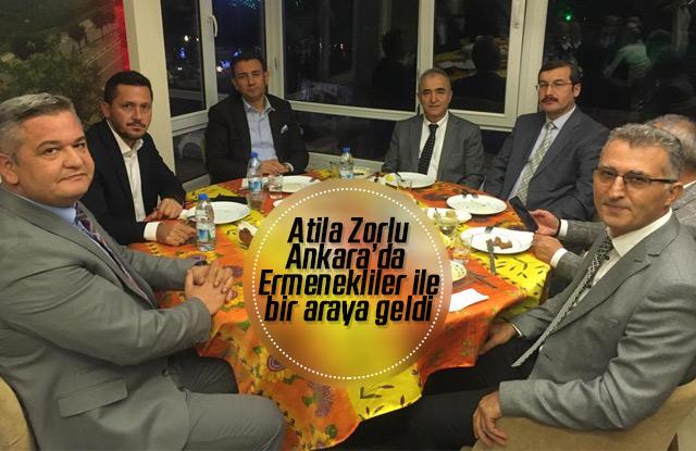 Atila Zorlu, Ankara'da Ermeneklilerle bir araya geldi.