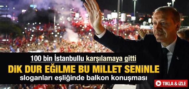 Başbakan Erdoğan havalimanında konuştu