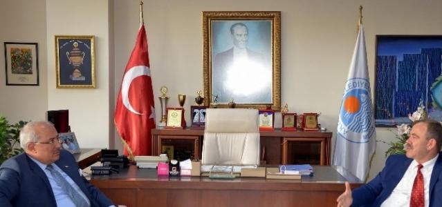 Başkan Kocamaz, Başkan Türk'ü Ziyaret Etti