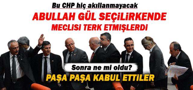 CHP Meclisi yine terk etti.