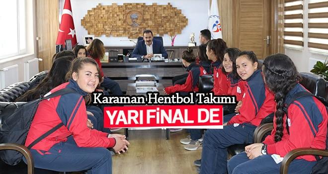 Karaman Hentbol Takımı Yarı Final Biletini Kaptı
