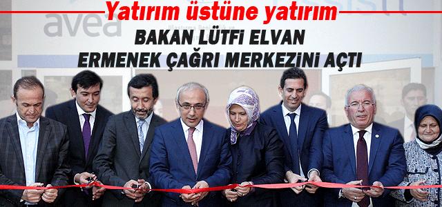 Elvan, Ermenek'te çağrı merkezini açtı.