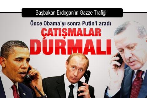 Erdoğan Obama ve Putin ile görüştü