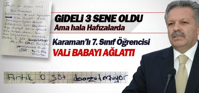 Karaman'lı öğrenci Süleyman Kahraman'ı Ağlattı