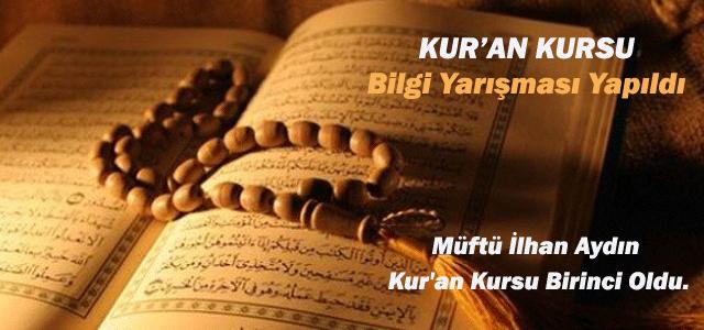 Kur'an Kursları Bilgi Yarışması Yapıldı