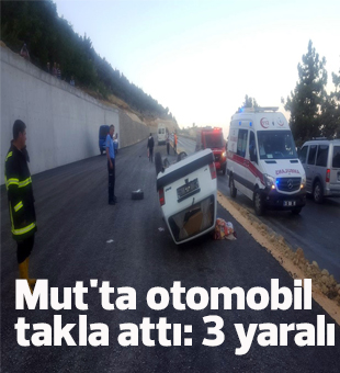 Mutta Otomobil Takla Attı: 3 Yaralı