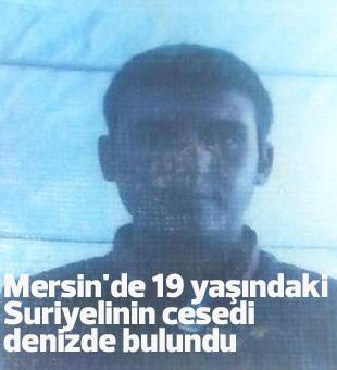 Mersinde 19 Yaşındaki Suriyelinin Cesedi Denizde Bulundu