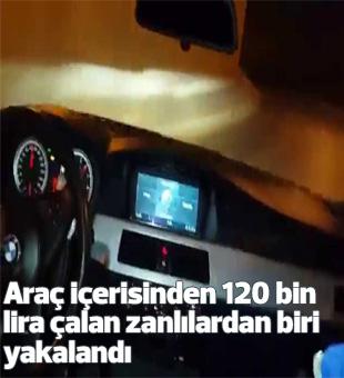 Araç İçerisinden 120 Bin Lira Çalan Zanlılardan Biri Yakalandı