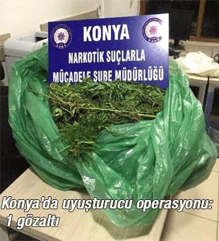 Konyada Uyuşturucu Operasyonu: 1 Gözaltı