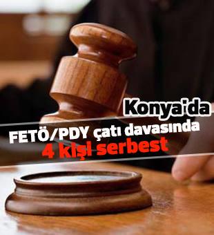 Konya'daki FETÖ/PDY çatı davasında 4 kişi serbest