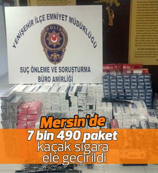 Mersin'de 7 bin 490 paket kaçak sigara ele geçirildi