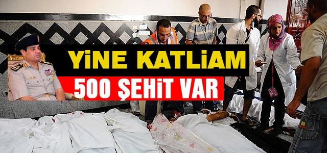 Mısırʹda Ölü Sayısı Artıyor: 500 Şehit Var
