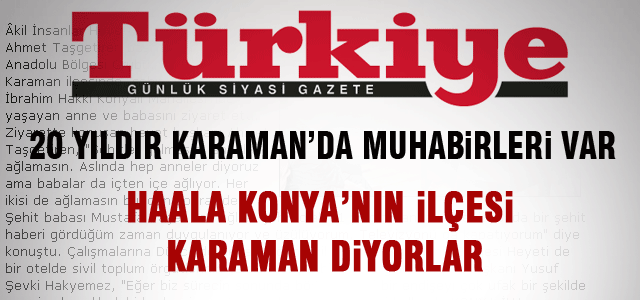 Türkiye Gazetesinden Ayıp