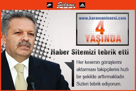 Vali Süleyman Kahraman'dan Haber Sitemize tebrik mesajı