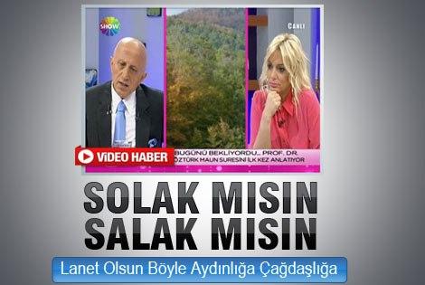 Yaşar Nuri Öztürk canlı yayında solculara hakaret etti