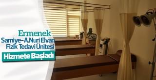 Ermenek'te Samiye-A.Nuri Elvan Fizik Tedavi Ünitesi hizmete başladı