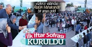 İlk İftar Sofrası Atatürk Mahallesi'ne Kuruldu