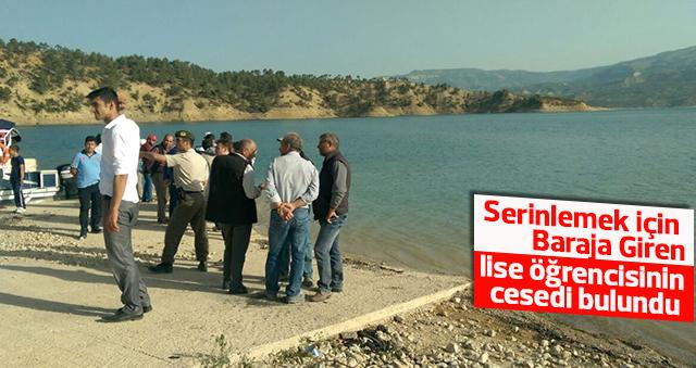 Barajda kaybolan lise öğrencisinin cesedi bulundu