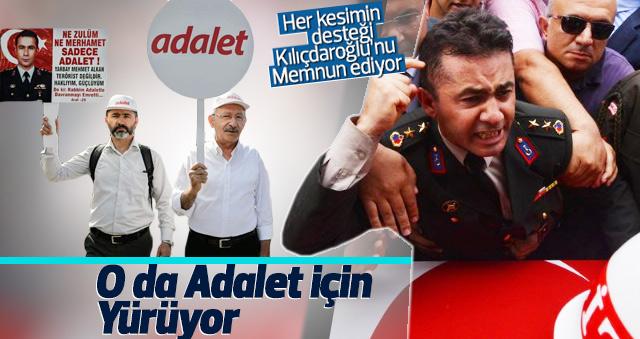 Mehmet Alkan da 'Adalet Yürüyüşü'ne katıldı