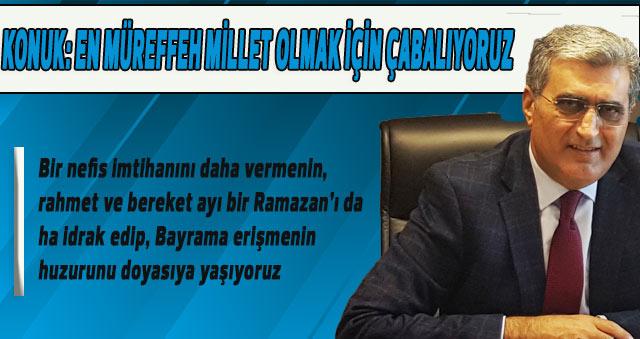 Recep Konuk, Ramazan Bayramı dolayısıyla bir mesaj yayınladı