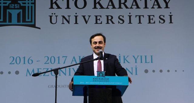 KTO Karatay Üniversitesi 2016-2017 akademik yılı mezunlarını verdi