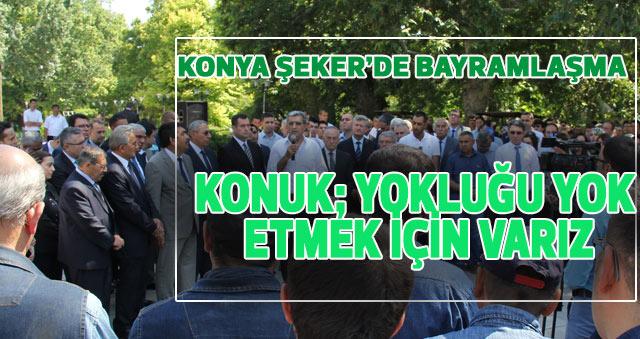 KONYA ŞEKER'DE BAYRAMLAŞMA