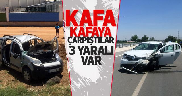 Karaman'da otomobil ile hafif ticari araç çarpıştı: 3 yaralı