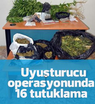 Ereğli'deki uyuşturucu operasyonunda 16 tutuklama