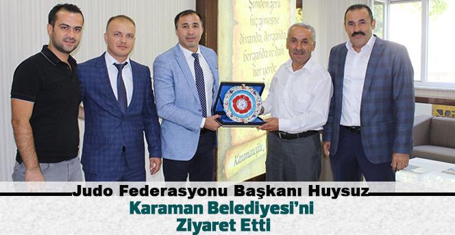 Judo Federasyonu Başkanı Karaman Belediyesi'ni Ziyaret Etti