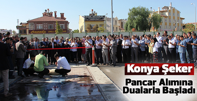 Çumra'dan Sonra Konya Şeker Fabrikası Da Pancar Alımına Başladı