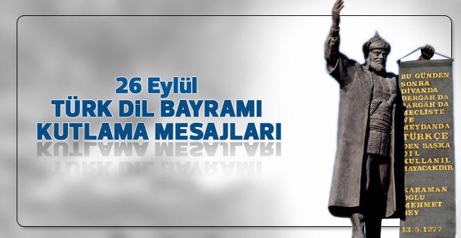 26 Eylül Türk Dil Bayramı Kutlama Mesajları