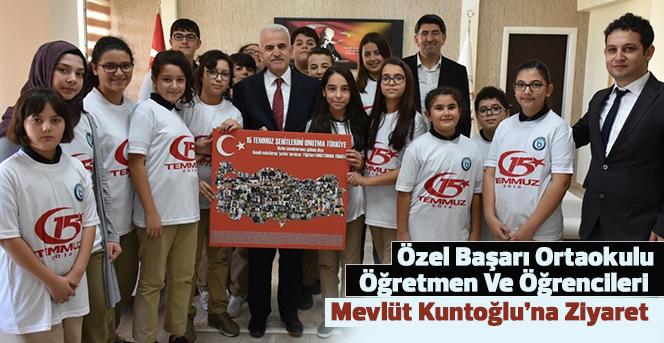 Özel Başarı Ortaokulu öğrenciler'inden Kuntoğlu'na ziyaret