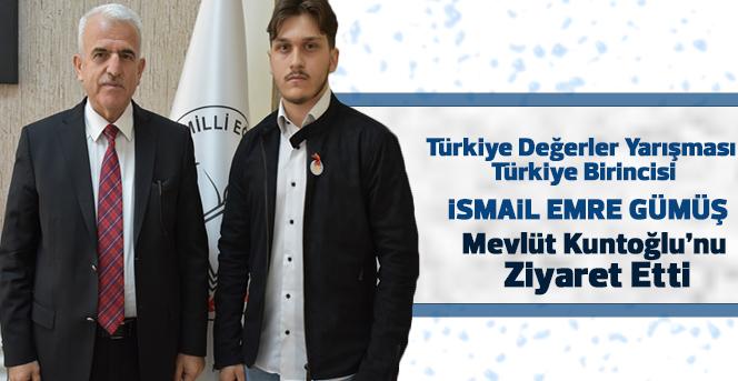 İsmail Emre Gümüş  Mevlüt Kuntoğlu'nu ziyaret etti.