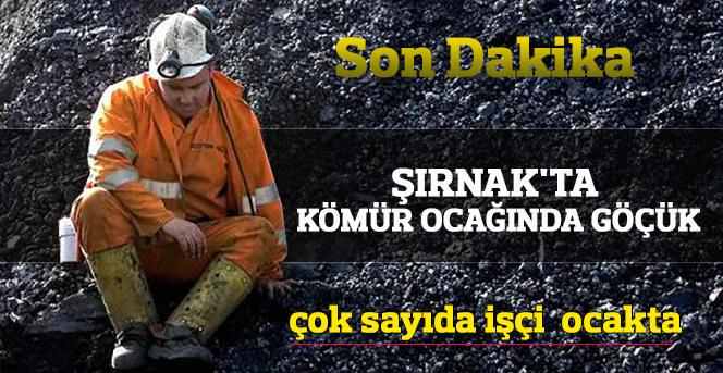 Şırnak'ta kömür ocağında göçük meydana geldi