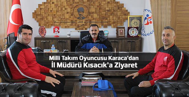 Milli Takım Oyuncusu Karaca'dan İl Müdürü Kısacık'a Ziyaret