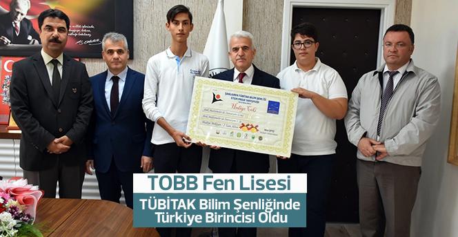 TOBB Fen Lisesi, TÜBİTAK Bilim Şenliğinde Türkiye Birincisi