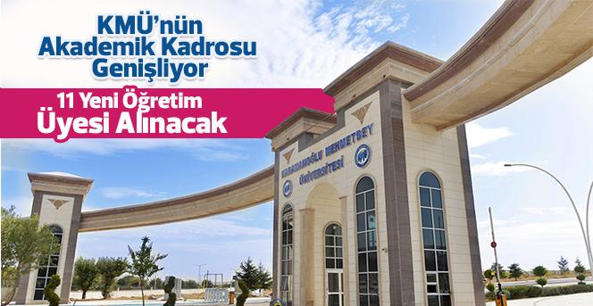 KMÜ'ye Yeni Öğretim Üyeleri Katılıyor