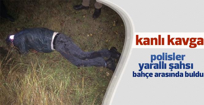 Kavga ihbarı üzerine gelen polis, bir kişiyi bıçaklanmış halde buldu