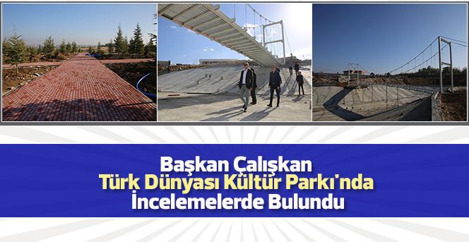 Başkan Çalışkan Türk Dünyası Kültür Parkı'nda İncelemelerde Bulundu