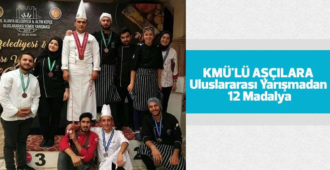KMÜ'lü Aşçılara Uluslararası Yarışmadan 12 Madalya