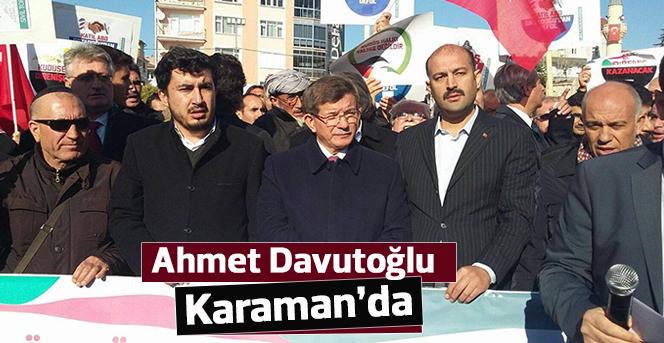 Ahmet Davutoğlu Karaman'da