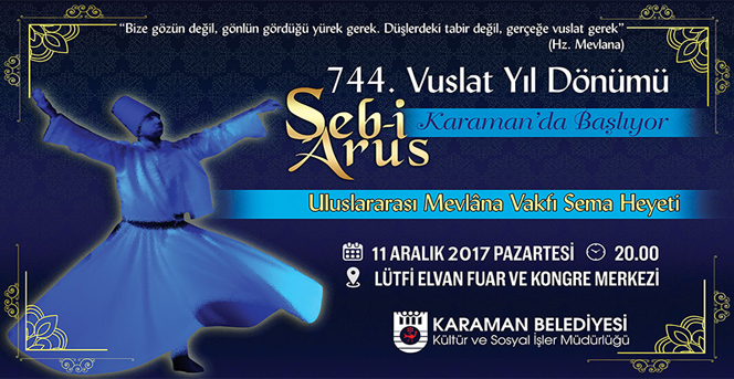 Şeb-İ Arus Törenleri Karaman'dan Başlıyor