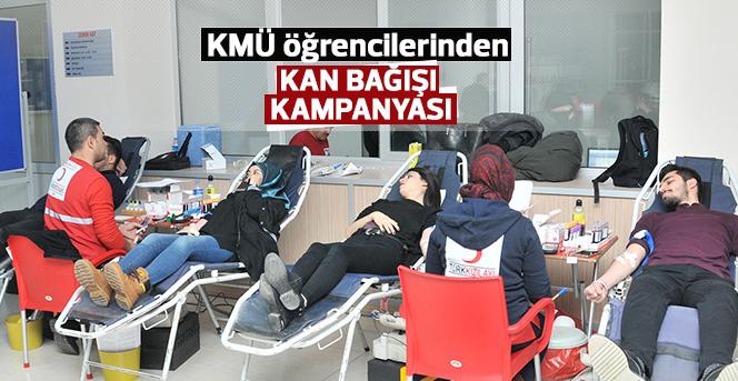 KMÜ Ailesi Kan Bağışı Kampanyasına Katıldı