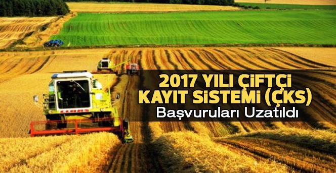 2017 yılı Çiftçi Kayıt Sistemi Başvuruları Uzatıldı