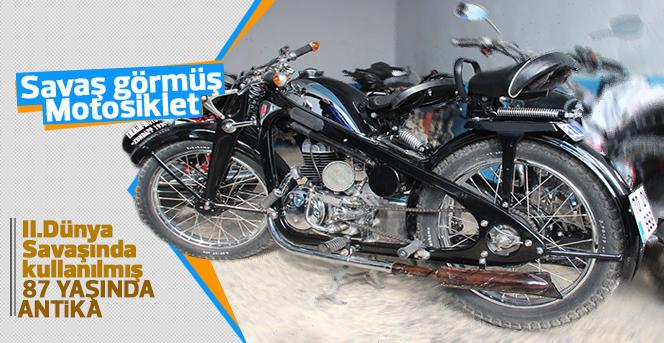 İkinci Dünya Savaşını görmüş motosiklet