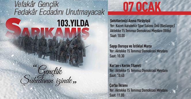 Karaman'da Sarıkamış Şehitlerini Anma Yürüyüşü Düzenlenecek