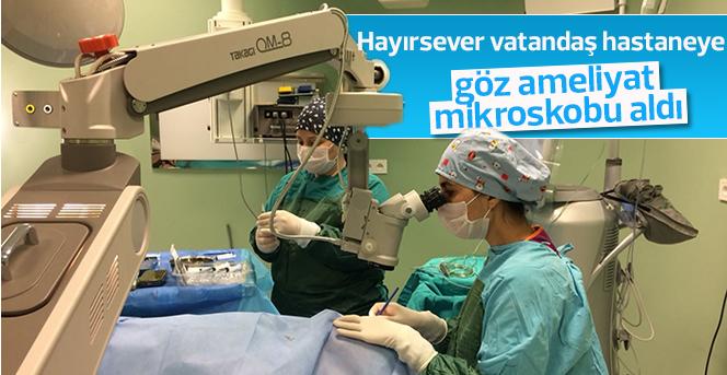 Hayırsever vatandaş, hastaneye göz ameliyat mikroskobu aldı