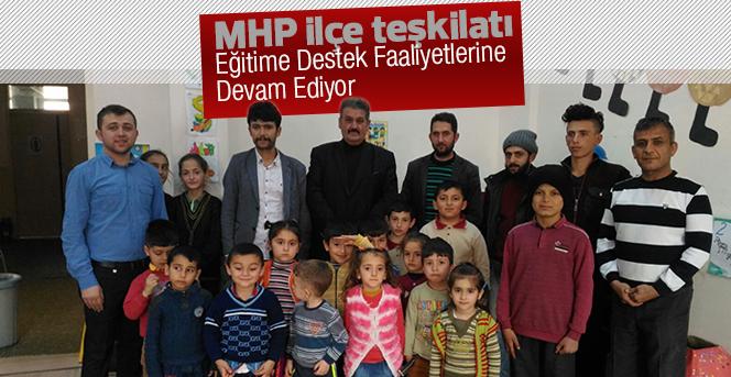 MHP ilçe teşkilatından eğitime destek