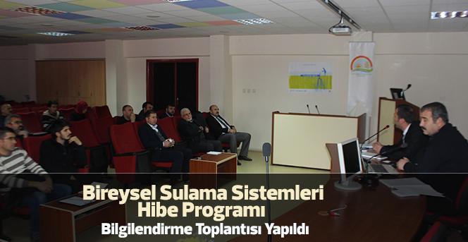 Sulama Sistemleri  Bilgilendirme Toplantısı Yapıldı